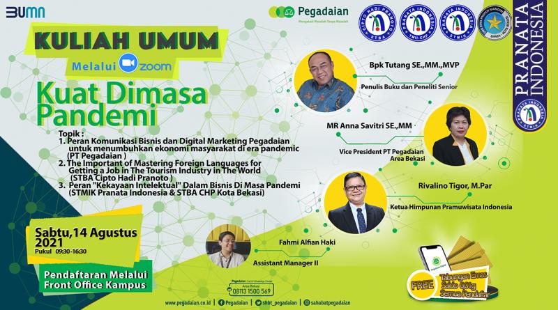 Seminar Komunikasi Bisnis dan Digital Marketing Pegadaian di Era Pandemi